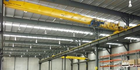 10 tonne gantry cranes inside this state of the art industrial building in Carole Park Ipswich