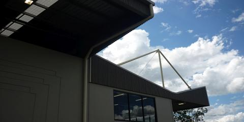 Interesting roof detail to this state of the art industrial building in Carole Park Ipswich