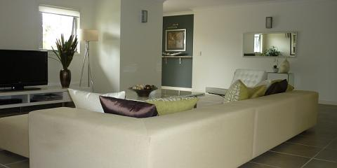 Contemporary lounge in Clayfield Brisbane by Building Designer Design 2B