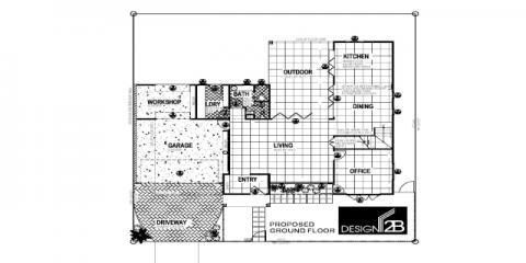 Ground Floor Plan in Clayfield Brisbane by Building Designer Design 2B