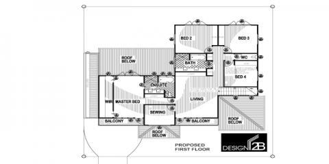 First Floor Plan in Clayfield Brisbane by Building Designer Design 2B