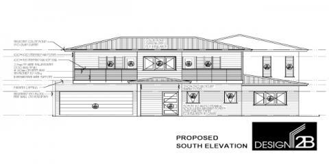 Front Elevation in Clayfield Brisbane by Building Designer Design 2B