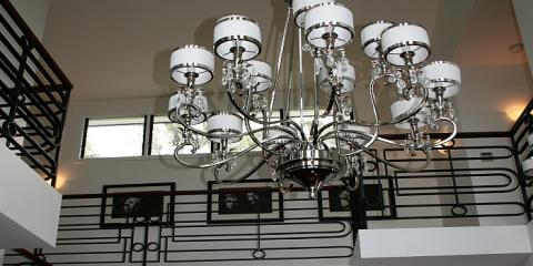 Internal wrought iron & feature lighting in this Hamilton alteration & addition Brisbane by building designer Design 2B