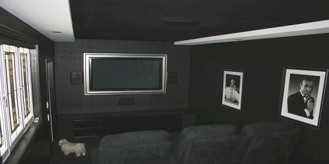 State of the art multi-media home theatre in this Hamilton Brisbane alteration & addition by building designer Design 2B
