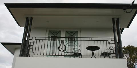 Wrought iron to bedroom balcony in Hamilton Brisbane by building designer  Design 2B