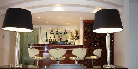 Feature bar & cold room in Hamilton Brisbane by building designer Design 2B