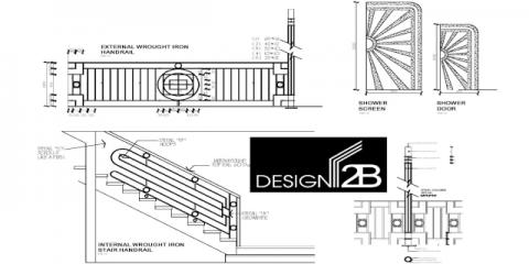 Detailed bespoke plans f Art deco home Hamilton Brisbane by building designer Design 2B